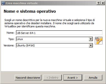 Configurare macchina virtuale con VM tools