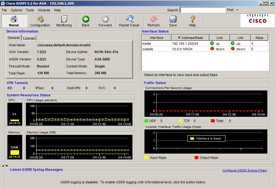 Interfaccia ASDM di Cisco ASA