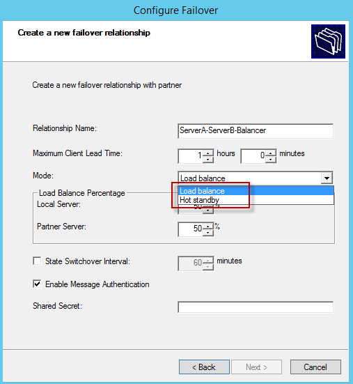 configure failover