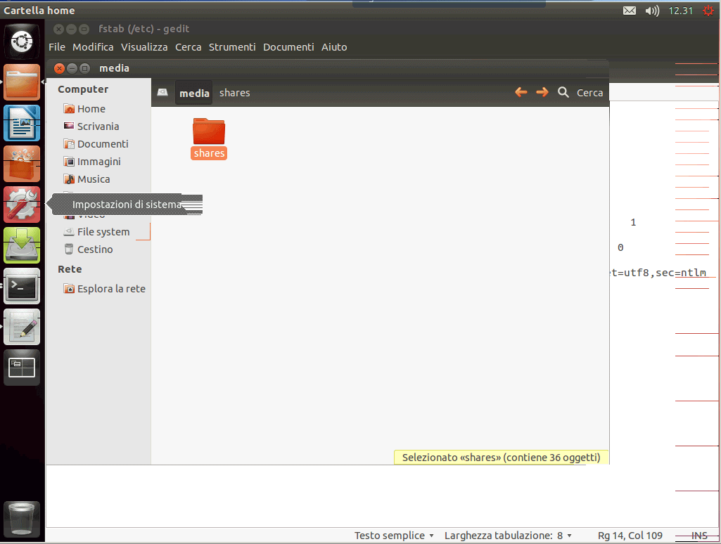 Montare smb folder