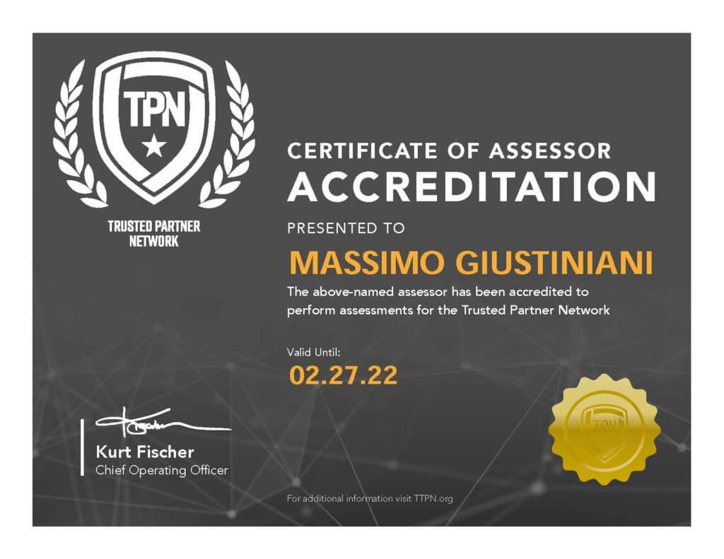 Trusted Partner Network Certified Assessor